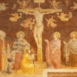 ������, ������: VERONA JANUARY 27: Crucifixion fresco from nave by Altichiero a painter of the Giotto school from end of 14 cent in basilica San Zeno in January 27 2013 in Verona Italy
