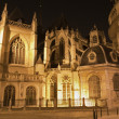 ������, ������: Brussels Sanctuary of Saint Michael and Saint Gudula gothic cathedral at night