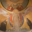 Rome, MARCH - 22: Mosaic of Virgin Mary from apse of Santa Prassede church. 2012, Italy. — Stock Photo #39017085