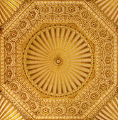 Toledo - 8 maart: koepel van synagoge santa maria la blanca. bouw datum ergens in de late 12e eeuw of vroege 13e eeuw op 8 maart 2013 in toledo, Spanje. — Stockfoto