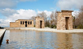 Madrid - The Debod Temple. Authentic Egyptian temple dating from the 2nd Century BC and dedicated to the gods Amon and Isis. — Stock Photo