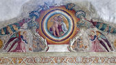 VERONA - JANUARY 27: Fresco from arch of Medici chapel in San Bernardino church on January 27, 2013 in Verona, Italy. — Stock Photo