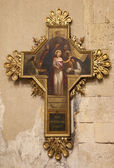 VERONA - JANUARY 27: Jesus for Pilate. Cross as part of cross-way in basilica San Zeno in January 27, 2013 in Verona, Italy. — Stock Photo
