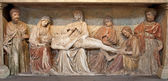 VERONA - JANUARY 28: Anointment of Jesus in the tomb from San Fermo Maggiore from 13. cent. on January 28, 2013 in Verona, Italy. — Stock Photo