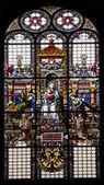 Rome - windowpane from church — Stock Photo