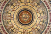 Paris - fresco from cupola of Saint Francois Xavier church - twelve apostle — Stock Photo