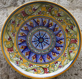 Siena - detrail of ceramics plate — Photo