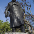 Stock Photo: London - Winston Churchill statue by parliament