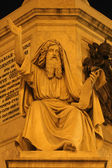 Ezechiel - Rome - detail of monument by Spain stairs — Stock Photo