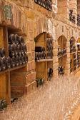BRATISLAVA, SLOVAKIA - JANUARY 23, 2014: Interior of wine cellar of great Slovak producer. — Stock Photo