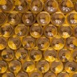 BRATISLAVA, SLOVAKIA - JANUARY 23, 2014: Detail of bottles from Interior of wine callar of great Slovak producer. — Stock Photo