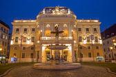 Bratislava - National theater in evening dusk — Stock Photo