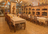 BRATISLAVA, SLOVAKIA - JANUARY 23, 2014: Interior of wine callar of great Slovak producer. — Stock Photo