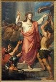 鲁汶、 比利时-2013 年 9 月 3 日: 耶稣进行他的十字架。油漆形成圣迈克尔斯教堂 (michelskerk) 19 日。. — 图库照片