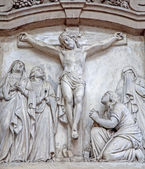 BRUSSELS, BELGIUM - JUNE 21, 2012: Crucifixion relief from church of Saint John the Baptist. — Stock Photo
