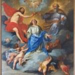 Постер, плакат: LEUVEN BELGIUM SEPTEMBER 3 2013: Paint of Coronation of Virgin Mary in Sint Jan de Doperkerk