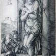 Постер, плакат: GERMANY 1928: Lithography of tortured Jesus Christ by Albert Durer Book Durer als Fuhrer published by Josef Muller Munchen Garmany 1928