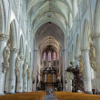 Stock Photo: MECHELEN, BELGIUM - SEPTEMBER 6: Nave of St. Rumbold's cathedral on September 6, 2013 in Mechelen, Belgium.