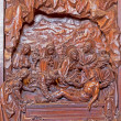 Stock Photo: ANTWERP, BELGIUM 5: Carved relief of Burial of Jesus scene in St. Pauls church (Paulskerk) on September 5, 2013 in Antwerp, Belgium