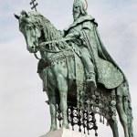 Saint Stephen memorial in Budapest — Stock Photo