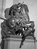BRATISLAVA, SLOVAKIA - JANUARY 14, 2014: Saint Martin plumbeous statue by by glorious sculptor Georg Rafael Donner from year 1734 in st. Martin cathedral. — Stock Photo