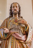 ANTWERP - SEPTEMBER 4: Heart of Jesus statue in Saint Willibrordus church on September 4, 2013 in Antwerp, Belgium — Stock Photo