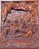 Antverpy, Belgie 5: vytesán reliéf pohřbení Ježíše scény v st. pauls church (paulskerk) na 5 září 2013 v Antverpách, Belgie — Stock fotografie