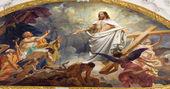 VIENNA - JULY 3: Fresco of Resurrected Jesus in heaven from ceiling of Schottenkirche church on July 3, 2013 in Vienna. — Stockfoto