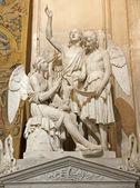 Bergame - 26 janvier : statue du tombeau du compositeur simone mayr par sculpteur innocenzo fraccaroli à partir de 26 janvier 2013, année 1852 à Bergame, Italie. — Photo