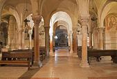 VERONA - JANUARY 27: Lower romanesque church in basilica San Zeno in January 27, 2013 in Verona, Italy. — Stock Photo