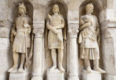 Budapest - wächter statue aus buda-wände — Stockfoto