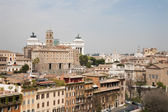 Rome - outlook from Palitne hill to Vittorio Emanuel landmark — Stock Photo