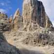 Stock Photo: Tower in massif civett- dolomite