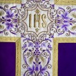 Stock Photo: Detail of vestment - violet