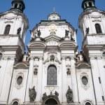Facade of st. nicholas church in prague — Stock Photo #39747107