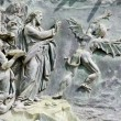 Pis- detail from cathedral gate - temptation ot Jesus — Stock Photo #39748765