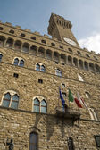 Florence - town-hall Palazzo Vecchio — Stock Photo