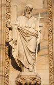 Milan - apostle Andrew statue from west facade of Duomo cathedral — Stock Photo