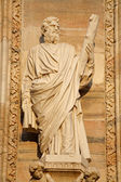 Milan - apostle Jude Thadeus statue from west facade of Duomo cathedral — Stock Photo