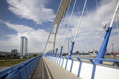 Bratislava - Apollo new arched bridge — Stock Photo