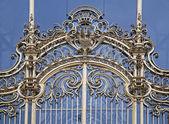Paris - gold gate of Petit palace — Stock Photo