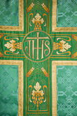 Cross - detail of vestment — Stock Photo