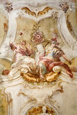 Gaming - late Carthusian cloister in Austria - detail from roof of church — Stock Photo