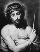 Torture of Jesus - lithography after Murillo — Stockfoto