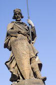 Prague - st. wenceslas statue - by castle — Stock Photo