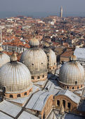 Venice - cupolas of st. Mark cathedral — Stock Photo