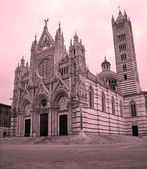 Siena - cathedral Santa maria Assunta in morning — Stock Photo