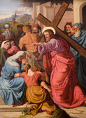 Christ and the cry of women - paint from st. Elizabeth church in Vienna — Стоковое фото
