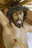 Jesus on the cross statue — Stock Photo
