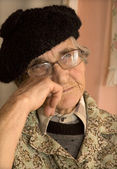 Rest of old woman - portrait — Stock Photo